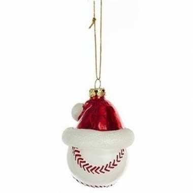 1x sport thema kersthangers figuurtjes honkbal kerstmuts 7 cm kopen