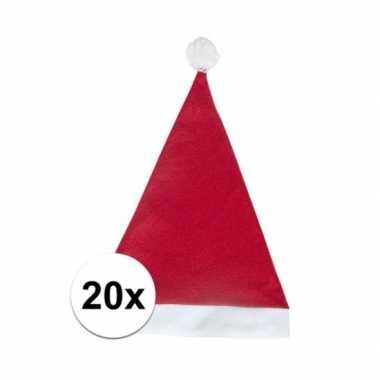 20x rode voordelige kerstmuts voor volwassenen kopen