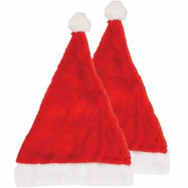 2x kerstmutsen 29 x 42 cm voor volwassenen kopen