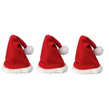 3x mini kerstmuts kopen