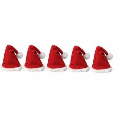 5x mini kerstmuts kopen