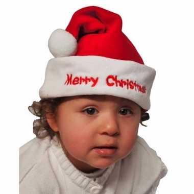 Baby kerstmuts merry christmas kopen