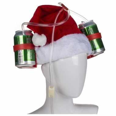 Bierhelm kerstmuts/kerstmannenmuts voor volwassenen kopen