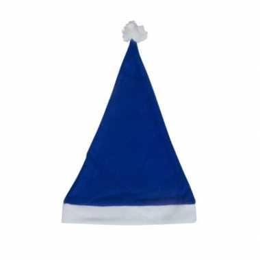 Blauwe voordelige kerstmuts voor volwassenen kopen