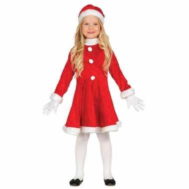 Budget kerstjurkje verkleed kostuum met muts voor meisjes kopen