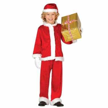 Budget pluche kerstman verkleed kostuum voor kinderen 3 delig kopen