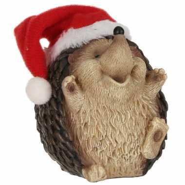 Egel met kerstmuts beeldjes/kerstbeeldjes 9 x 8 cm kopen