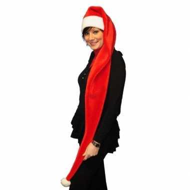 Extra lange rode kerstmuts kopen