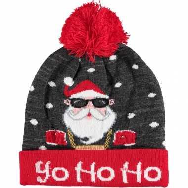 Foute kerstmutsen/mutsen/wintermutsen yo ho ho met verlichting kopen