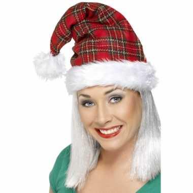 Geruite leuke kerstmutsen kopen