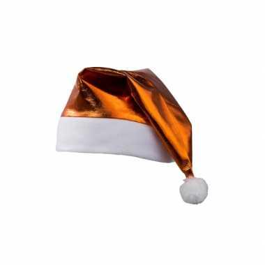 Glimmende oranje kerstmuts kopen
