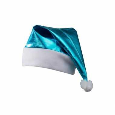 Glimmende turquoise kerstmuts kopen