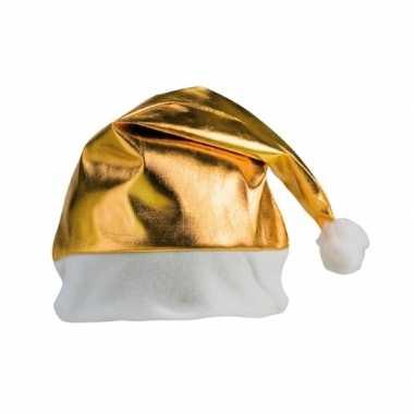 Gouden kerstartikelen kerstmuts kopen