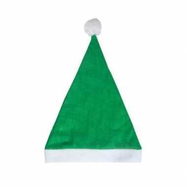 Groene voordelige kerstmuts voor volwassenen kopen