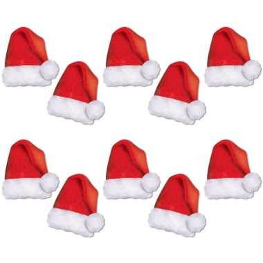Kartonnen kerstmutsjes 10 stuks kopen