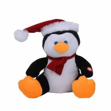Kerst decoratie pinguin met muziek