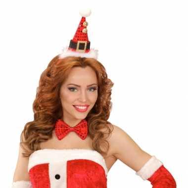 Kerst diadeem mini kerst hoedje met strik kopen