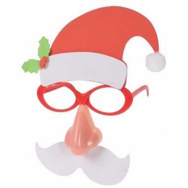 Kerst kerstman verkleed bril met licht voor volwassenen kopen