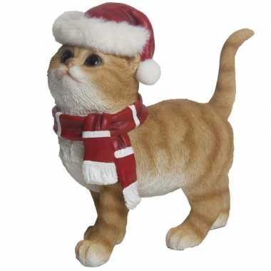 Kerstdecoratie rode kat/poes kopen