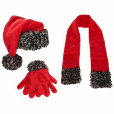 Kerstman winterset 3 delig