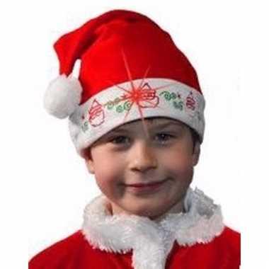 Kerstmuts kerstman met licht voor kinderen kopen