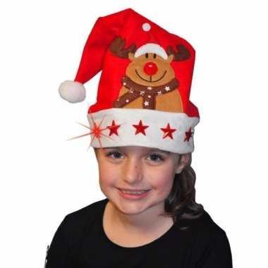 Kerstmuts met rendier en lichtjes voor kinderen kopen