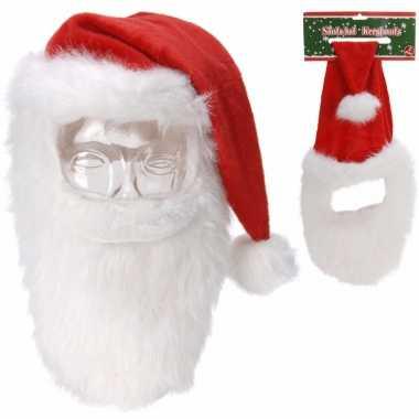 Kerstmuts met snor en baard kopen