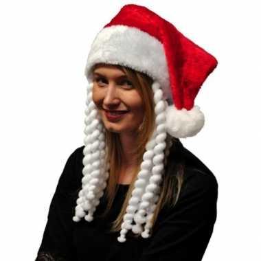 Kerstmuts met vlechten kopen