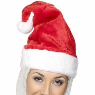 Kerstmuts rood met wit kopen