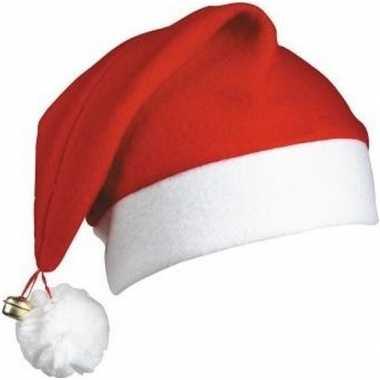 Kerstmuts wit/rood met belletje voor volwassenen kopen