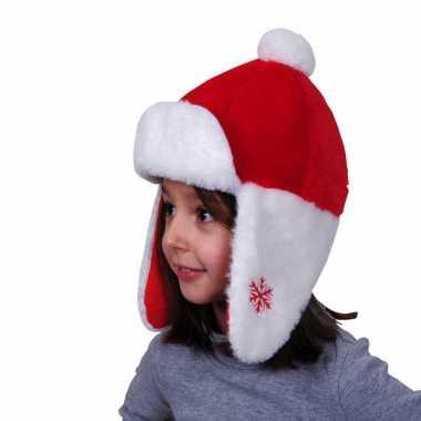 Kerstmutsen pluche met oorflappen voor kinderen kopen