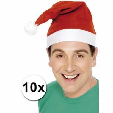 Kerstmutsen voor de laagste prijs pakket van 10 kopen