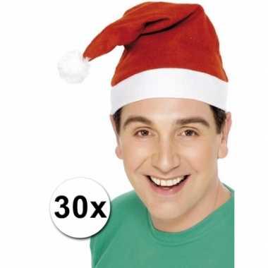 Kerstmutsen voor de laagste prijs pakket van 30 kopen