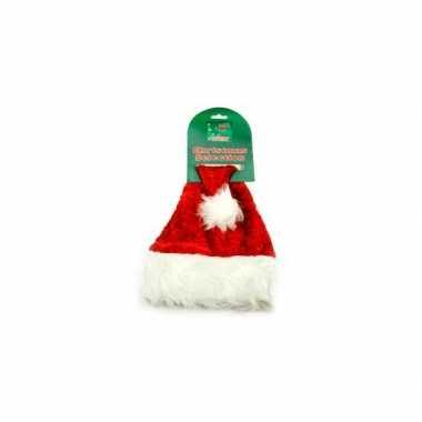 Luxe kerstmuts rood katten kopen