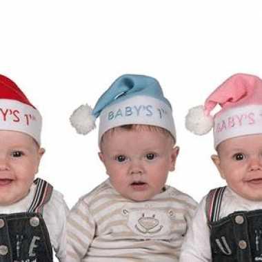 Mini kerstmuts in diverse kleuren kopen