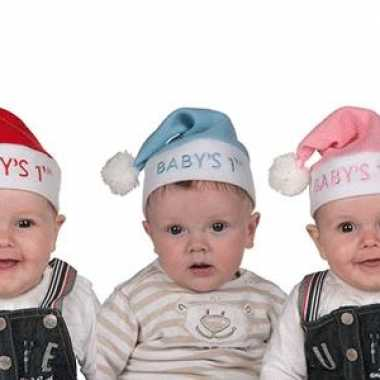 Mini kerstmuts in diverse kleuren