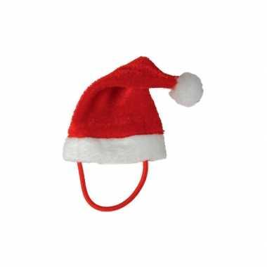 Mini kerstmuts met bandje voor een knuffelbeest/knuffel kopen