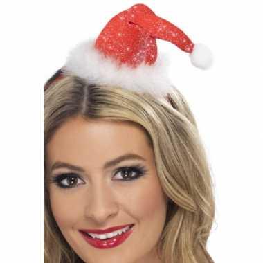 Mini kerstmuts op diadeem kopen