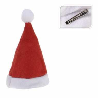 Mini kerstmutsje op clip kopen