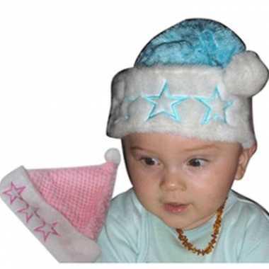 Pluche kerstmuts voor een baby kopen
