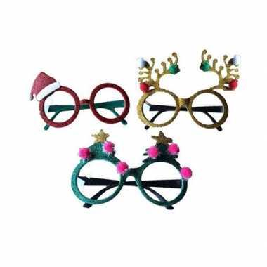 Rode brillen/feestbrillen met kerstmuts voor volwassenen kopen