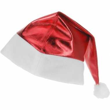 Rode glimmende kerstman kerstmuts voor volwassenen kopen