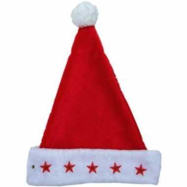 Rode kerstmuts met lichtjes kopen