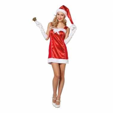 Rode sexy kerstvrouw jurk met kerstmuts voor dames kopen