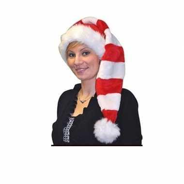 Rood met wit gestreepte kerstmuts kopen