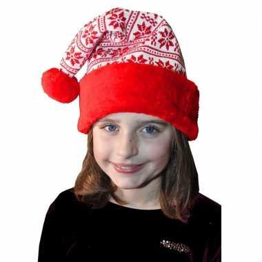 Rood/witte kerstmuts voor kinderen kopen