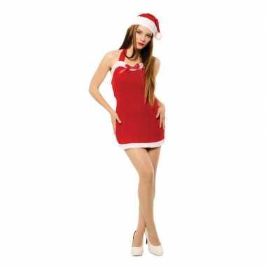 Sexy kerstvrouw jurkje met kerstmuts voor dames kopen