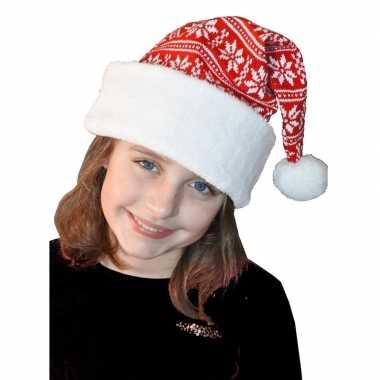 Wit/rode kerstmuts voor kinderen kopen