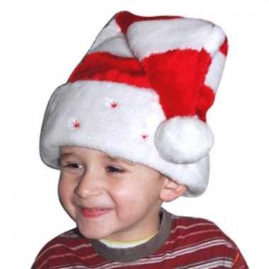 Zachte gestreepte kerstmuts kind