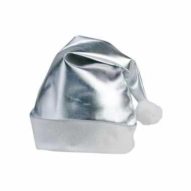 Zilveren kerstartikelen kerstmuts kopen